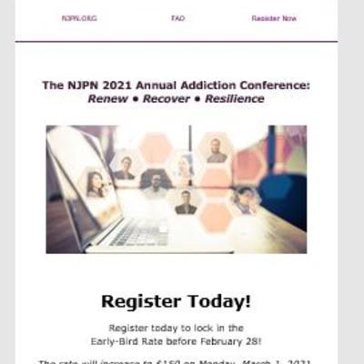 The NJPN 2021 Annual Addiction Conference:  Renew • Recover • Resilience