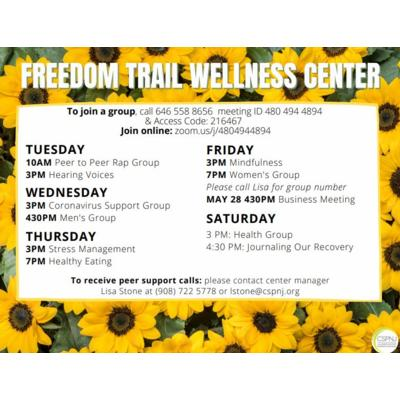 Freedom Trail Wellness Center offers Online Support 5 Days a Week