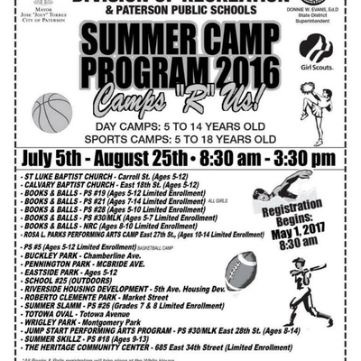 City of Paterson Summer Camp